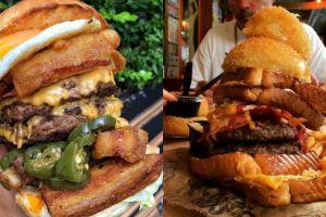 8 Burger jumbo ini wow banget, sanggup ngabisin?