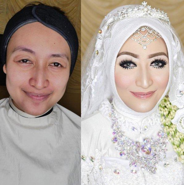 transformasi makeup © 2017 instagram.com/khadijahazzahra_makeup