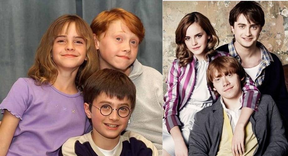 13 Foto transformasi 'tiga sekawan' di film Harry Potter, pangling deh