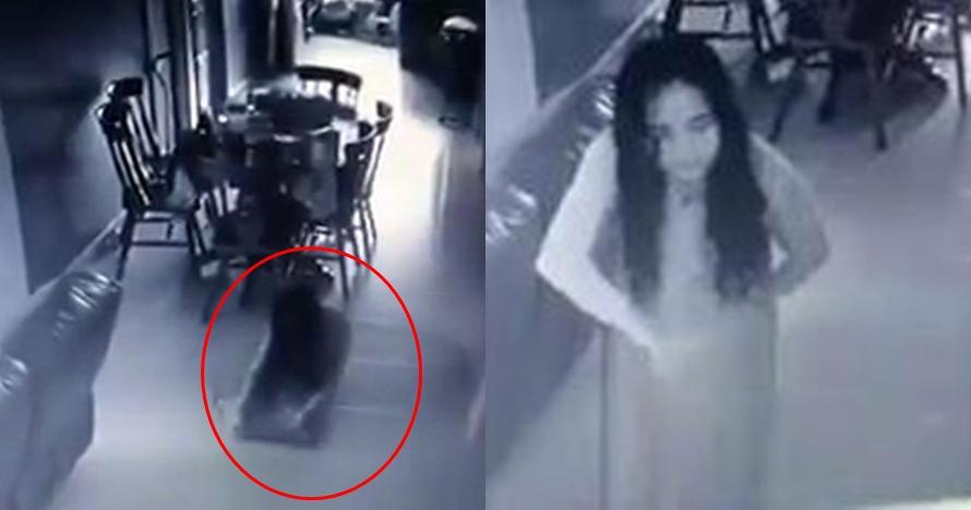 Terekam CCTV, pembantu ini menjelma jadi sosok wanita menyeramkan