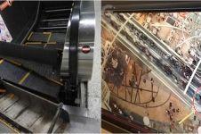 4 Kecelakaan tragis di eskalator, pijakan rubuh sampai berbalik arah
