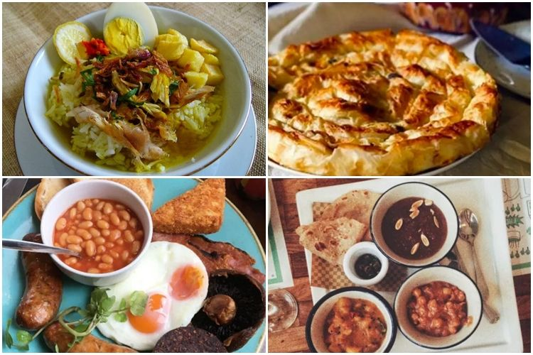 15 Menu sarapan dari berbagai negara di seluruh dunia, lezat mana?