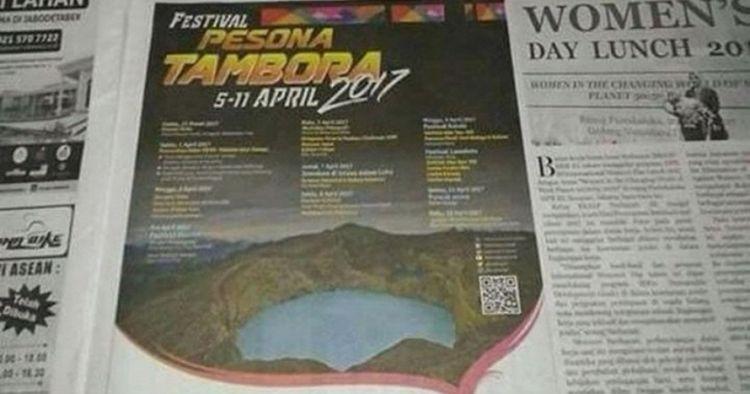 Iklan Festival Pesona Tambora ini ada yang salah, kamu tahu nggak?