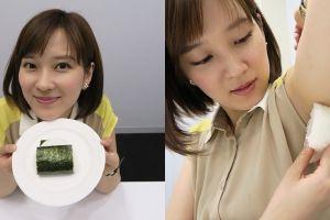 Lagi tren di Jepang, nasi kepal ini dikempit di ketiak sebelum dimakan
