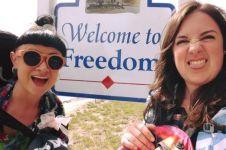 2 Gadis ini jalan-jalan gratis ke 48 negara bagian di AS, kok bisa ya?