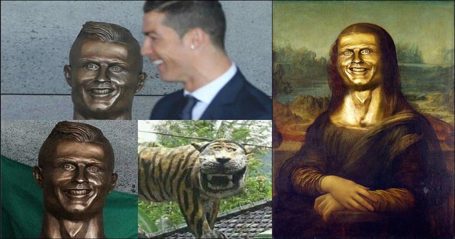 12 Foto editan patung fail Cristiano Ronaldo, lucunya nggak kira-kira