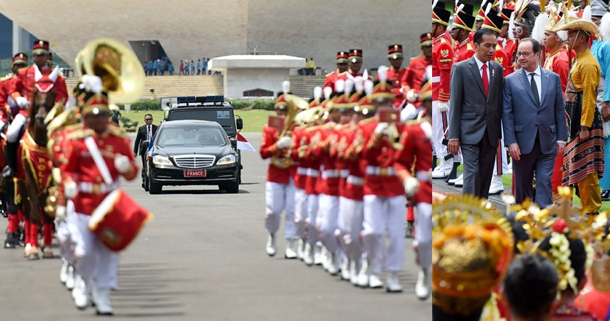 15 Foto serunya gaya baru penyambutan tamu negara oleh Presiden Jokowi