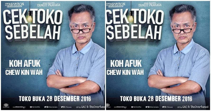 12 Foto keseharian Chew Kin Wah 'Cek Toko Sebelah', selucu di film?