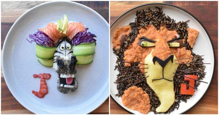 16 Menu Makanan Sehat Berbentuk Karakter Kartun Ini Menggugah Sel