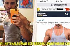 Pria ini beli tank top di online shop, yang diterima malah zonk