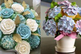 Terlihat seperti hiasan, 14 bunga ini ternyata cupcake yang lezat lho
