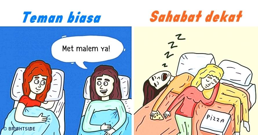 8 Ilustrasi ini tunjukkan beda teman & sahabat dekat, nampol abis nih!