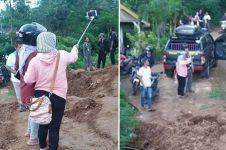 Aksi selfie di lokasi Longsor Ponorogo menuai kecaman banyak orang