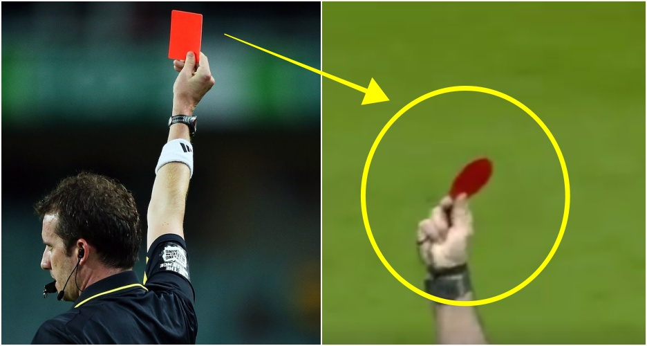 Ini alasan kenapa kartu merah di sepak bola bentuknya lingkaran