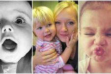 18 Momen balita selfie bak orang dewasa, nggak kalah narsis nih
