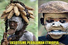 15 Potret langka suku pedalaman di Ethiopia, eksotis tiada lawan