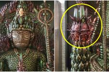 Bikin merinding, patung ini dibuat memakai 20.000 bangkai kumbang