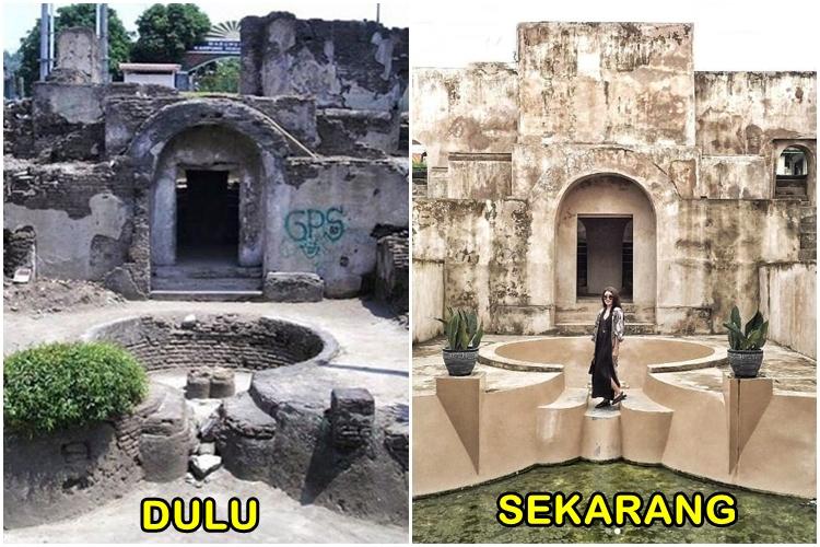 Foto perbedaan wisata Jogja dulu dan sekarang © 2017 berbagai sumber