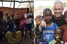 10 Foto mengharukan David Beckham bersama anak-anak Afrika, inspiratif