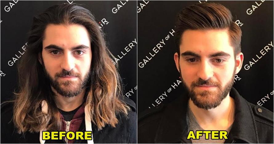10 Foto before after cowok setelah potong rambut f5ba558658