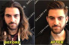 10 Foto before after cowok setelah potong rambut, nah gitu kan cakep