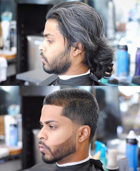 614234 cowok potong rambut