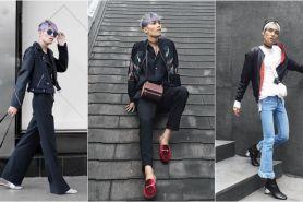 10 Foto Wisnu Genu, model androgini dengan selera fashionnya nyentrik
