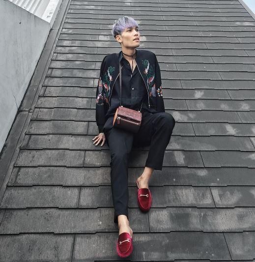 Wisnu Genu model androgini  © 2017 Instagram