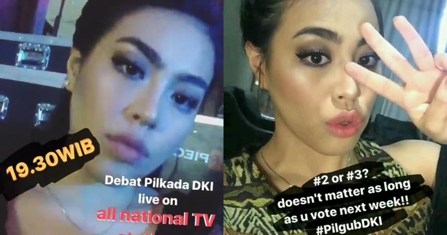 Ini sosok penyanyi cantik di debat Pilkada DKI putaran II, idolamu ya?