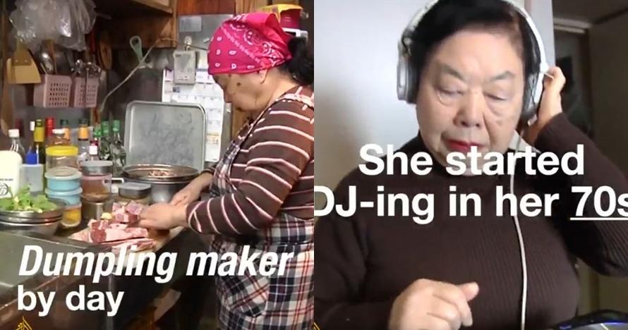 Nenek 82 tahun ini pagi jualan dimsum, kalau malam kerja jadi DJ