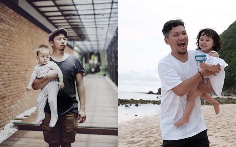 12 Foto artis hot daddy saat gendong anak, cewek-cewek wajib tahu nih