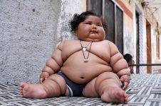 Usianya baru 8 bulan, bayi ini punya berat badan bak balita 4 tahun
