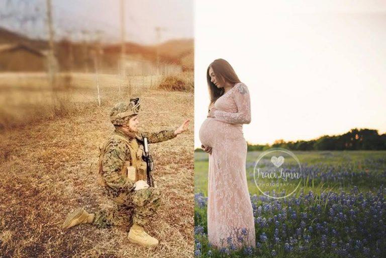 Terpisah 11.000 km, 6 foto kehamilan ini bikin pasangan LDR makin kuat