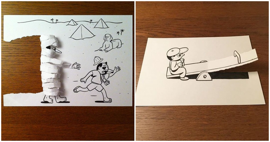16 Karya Gambar Kartun Pakai Trik 3d Hasilnya Tampak Hidup