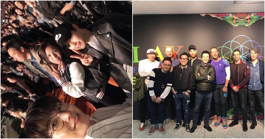 10 Foto serunya seleb Korea nonton konser Coldplay di Seoul, asyik nih