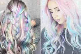 15 Foto holographic hair, tren rambut yang lagi happening di medsos