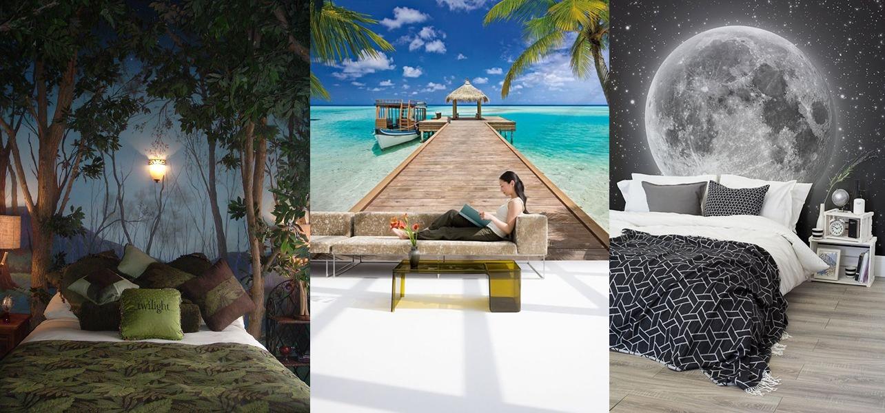 15 Desain wallpaper dinding bertema pemandangan ini bikin rumah adem