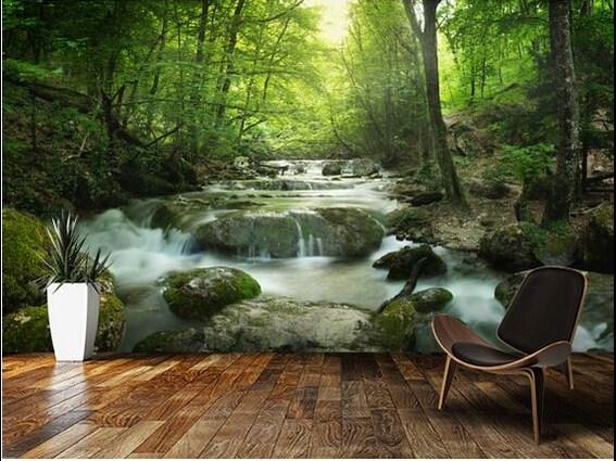 15 desain wallpaper dinding bertema pemandangan ini bikin - Nature ke wallpaper ...