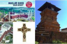5 Masjid di Indonesia ini bentuknya tak biasa, ada yang mirip gereja