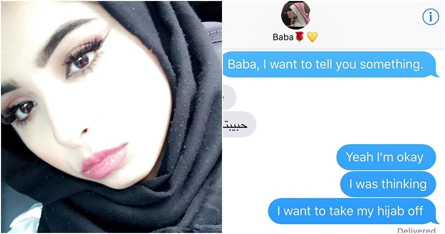 Jawaban ayah saat ditanya putrinya yang 'akan' lepas hijab ini menohok