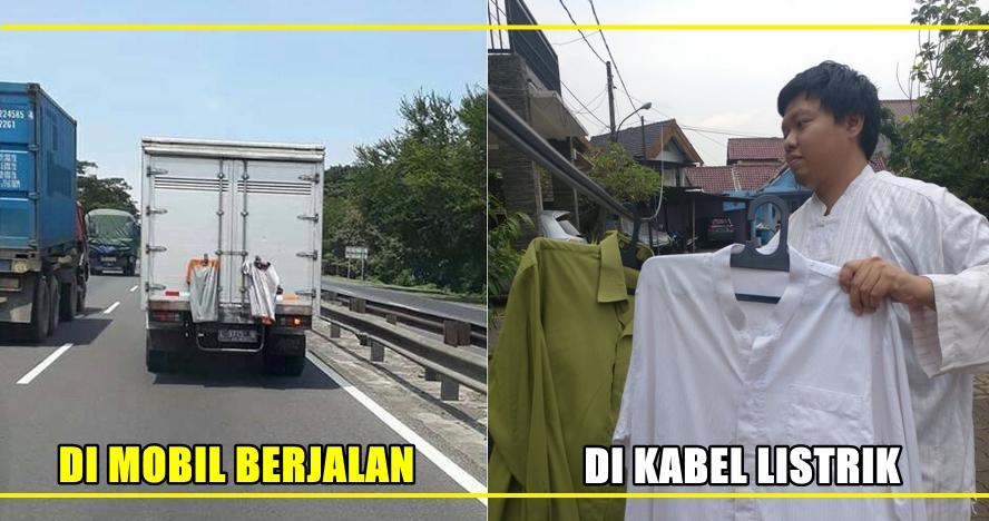 7 Foto ini tunjukan tingkah aneh orang Indonesia saat jemur pakaian
