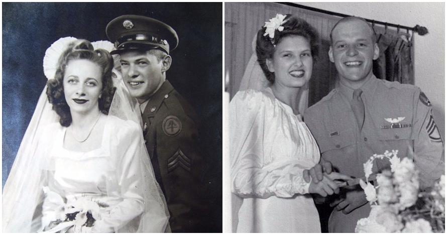 18 Foto kebahagiaan tentara PD II saat menikah, vintage abis
