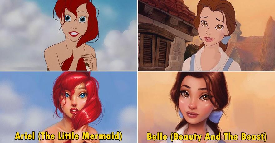 Remake foto 7 tokoh Disney ini bikin tampak lebih nyata, wow banget!