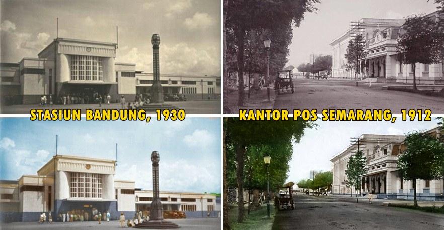 Begini jadinya jika foto jadul 15 daerah di Indonesia diwarnai, kece!