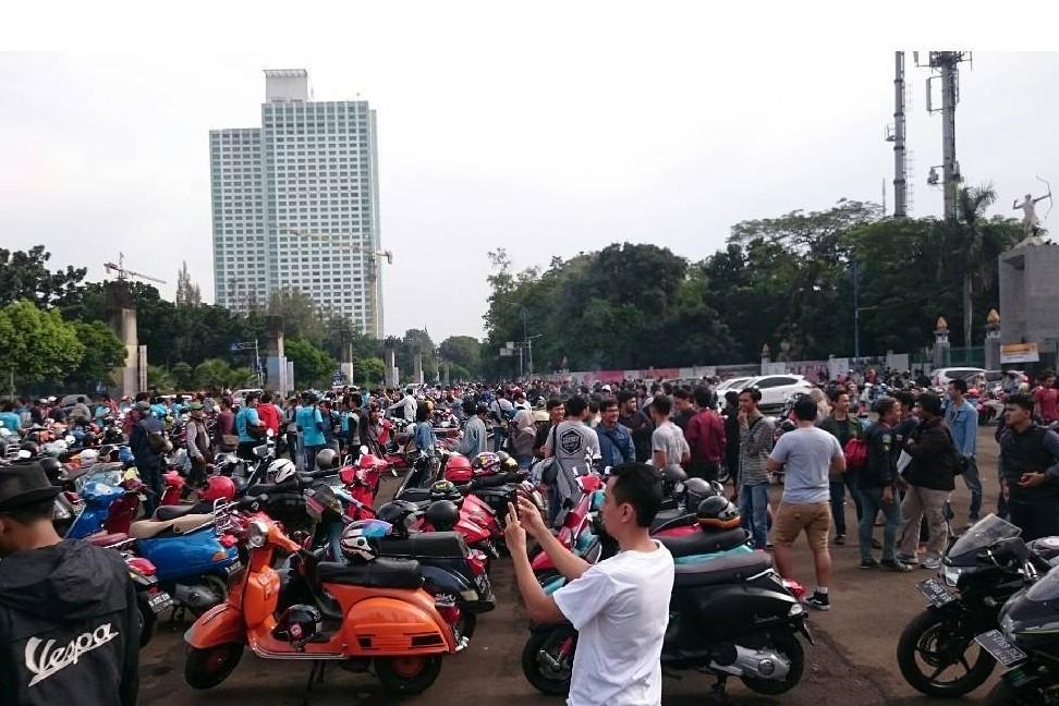 Bikin acara IVD ke-6, komunitas Vespa satukan Indonesia