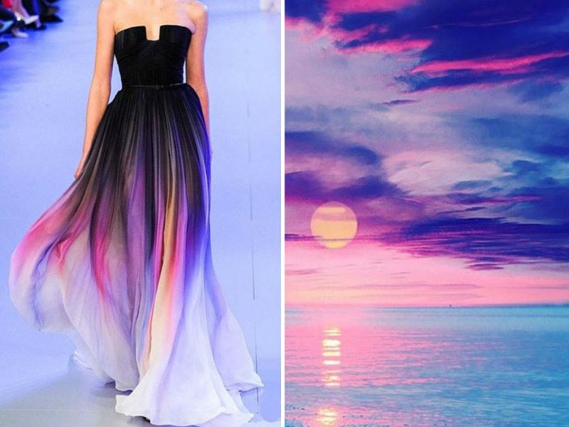 gaun rancangan desainer alam  © 2017 berbagai sumber