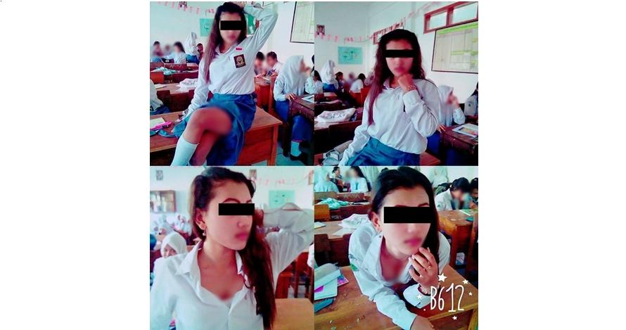 Kelakuan siswi SMA foto 'hot' di dalam kelas ini bikin miris