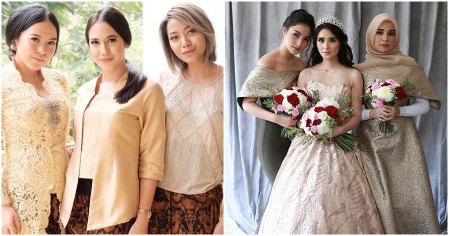 7 Foto artis cantik saat jadi bridesmaid, siapa paling menawan?