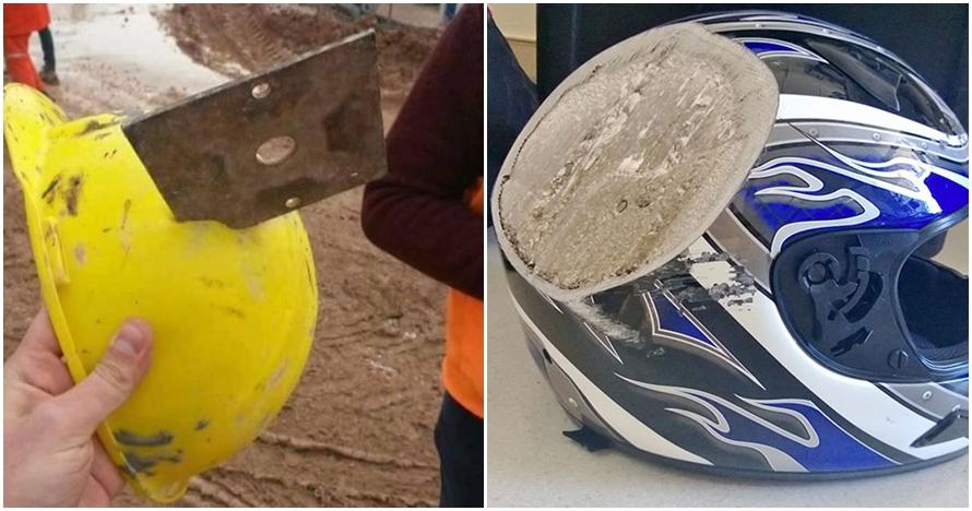 15 Bukti saat helm selamatkan nyawa penggunanya, ngeri