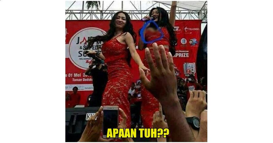 Ada yang 'ngintip' di dada Pamela Duo Serigala, netizen heboh banget!